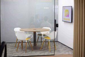 Ilustrar os escritórios partilhados da Mango Tree